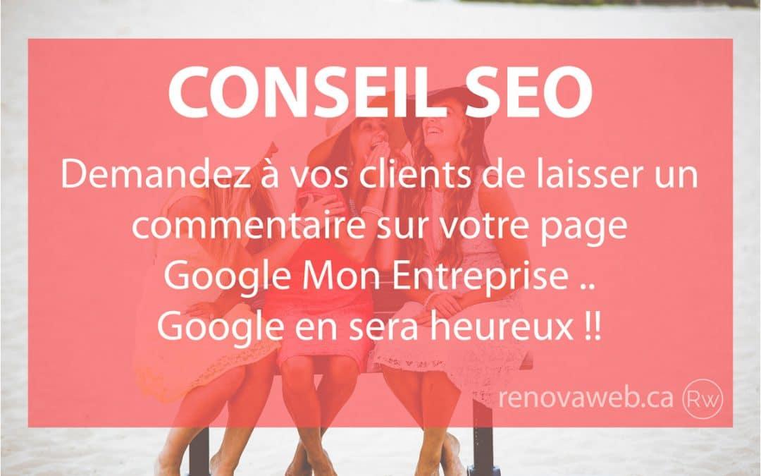 Commentaires Google Mon Entreprise